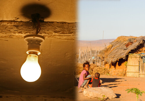 Third world country with light bulb (medium-large)