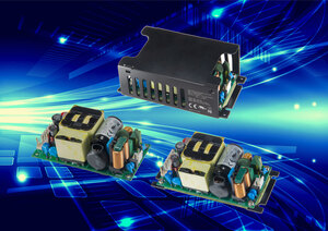 260W AC-DC open frame baseplate cooled power supply suitable for extreme environments